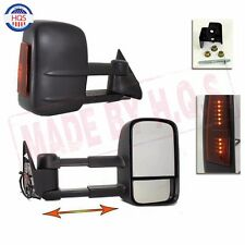 LED SIGNAL Towing Side View Mirrors Left Right Pair Set For 88-98 Chevy GMC NEW