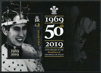 Guernsey 2019 MNH Investiture Prince Charles of Wales 1v M/S Royalty Stamps