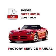 2003 - 2006 DODGE VIPER ROADSTER SERVICE REPAIR WORKSHOP MANUAL + WIRING DIAGRAM