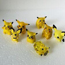 8 Different Pikachu Pichu Nintendo Pokemon Mini Figures 1 Inch Bundle Clear Eare