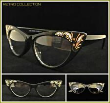 Classy Elegant Retro Cat Eye Style Clear Lens EYE GLASSES Black Fashion Frame