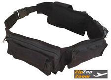Army Military Combat Utility Belt Waist Cargo Money Travel Bum Bag Surplus Black