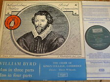 ZRG 5362 Byrd Masses in Three & Four Parts / Willcocks / King's