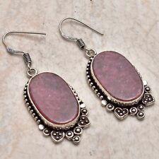 "Jewelry 1.92"" Ae 42519 Rhodonite Handmade Drop Dangle Earrings"