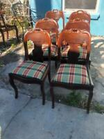 American Late Classical Mahogany Gondola Chairs - Matching Set of 6