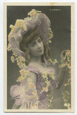 c 1905  French Theater Cabaret VERY PRETTY Mlle Amabily dancer photo postcard