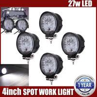4pcs 4INCH 27W LED WORK LIGHT BAR DRIVING SPOT BEAM SUV ATV UTE TRUCK