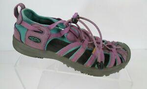 KEEN Waterproof Sandal Girls Sz 4 Purple Teal Hiking Sport Outdoor Shoe