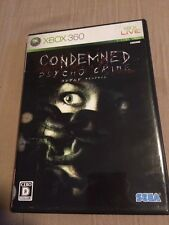 Xbox360 -CONDEMNED PSYCHO CRIME- X Box 360 Japan Import Free Shipping