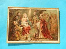 IMAGE PIEUSE HOLY CARD LES ROIS MAGES ADORATION    BONNE PRESSE