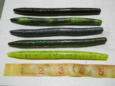 """50 - 5"""" Senko Style Bass Lures! 5 Colors -  Plastic Fishing Tackle Worms - Mix1"""