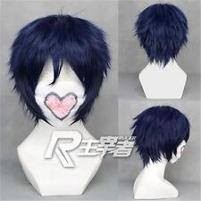 Anime Ao No Blue Exorcist Rin Okumura Short Cosplay Wig + Free Wig Cap + Track