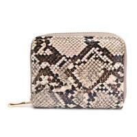 Fashion PU Leather Clutch Women Short Purse Serpentine Card Holder (Brown)  #Z