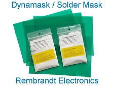 Dynamask: Starter Kit Solder Mask. 5 sheets 15x10CM + 2x10 gram developer (NL)