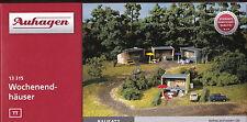 Auhagen 13315 - Spur TT - Wochenendhaus - Bungalow - 4 Stück mit Zubehör