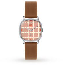 Orla Kiely Iris Ladies Leather Strap Watch  OK2023-OKNP
