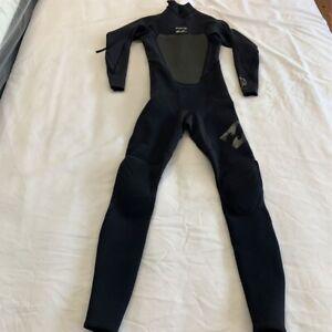 Billabong Unisex Foil Flatlock 302 Wetsuit Black Back Zipper Stretch Paneled MT