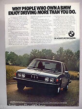 BMW 530i PRINT AD - 1977