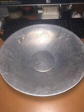 Vintage West Bend Aluminum Fruit Container Center Piece Round PRe-owned