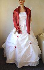 NEU traumhaftes Brautkleid Gr.38 + Stola ( Zweiteiler ) ♥ weiß / rot ♥