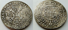 1649 Big Silver Coin Old Antique Unknown Unusual Crown Shield Cross Vintage Item