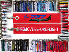 Keyring BOEING 737 in red Remove Before Flight keychain Pilot Crew BLACK PLANE