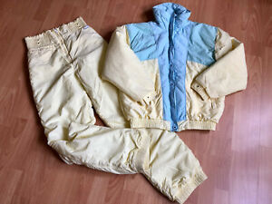 Vtg 80's CB Sports Multicolor Winter Ski Jacket M& Insulated Pants Size 28