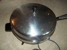 Farberware Stainless Steel Electric Skillet Fry Pan Model 310-A Nice Vintage