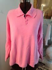 Talbots Women's Petite 3x Bubblegum Pink Stretch Cotton Collared Sweater YUMMY!!