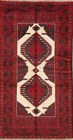 Geometric Vintage Balouch Area Rug Oriental Hand-Knotted Home Decor Carpet 3x6