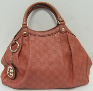 GUCCI Coral Guccissima Leather Medium Sukey Tote Bag