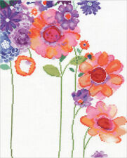 Design Works Watercolor Garden Counted Cross Stitch Picture Kit 2931new