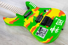 ESP LTD GL-KAMI4 George Lynch Signature Electric Guitar Neon Kamikaze Graphic