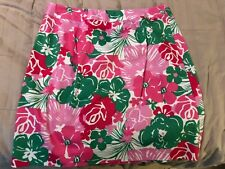 Mint ISLAND REPUBLIC Pink Green Floral Ribbon Trim Mini Skirt Ladies 8
