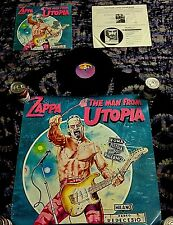 1983 FRANK ZAPPA W/ STEVE VAI MAN FROM UTOPIA RECORD STORE USA PROMO LP + POSTER