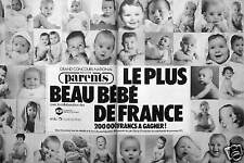 PUBLICITÉ MAGAZINE PARENTS GRAND CONCOURS NATIONAL LE PLUS BEAU BÉBÉ DE FRANCE