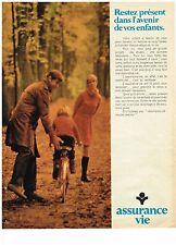 PUBLICITE  1969   ASSURANCE VIE   l'avenir de vos enfants