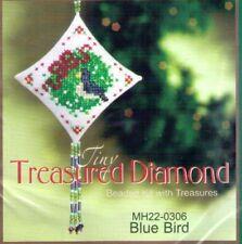 Christmas Blue Bird Mill Hill Treasure Diamond Kit