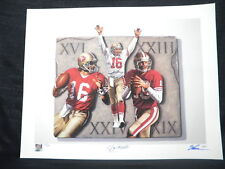 Joe Montana Super Bowl Legend Signed 49ers Litho JSA