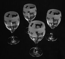 Jack Russell terrier Dog  gift Wine Glasses set of four...Boxed