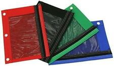Pencil Pouch Case with Front Mesh Window & Zipper, Standard 3-ring Binder. Stati