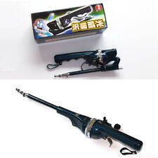 Pocket Folding Mini Rod Telescopic Pole Portable Fishing Rod with Fishing Line