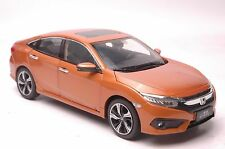 Honda Civic 2016 car model in scale 1:18 orange