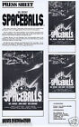 SPACEBALLS Original Vintage Australian Movie Press Sheet