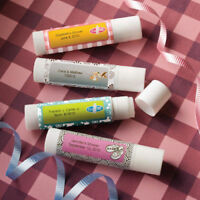 40-240 Personalized Baby Lip Balm - Baby Shower Baptism Christening Favors