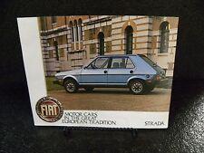 1980's FIAT Strada Car Dealer Brochure Literature Advertising