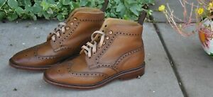 Not Broken In Brooks Brothers Peal & Co Pebbled Wingtip Boots 8.5D 8 1/2 D $598