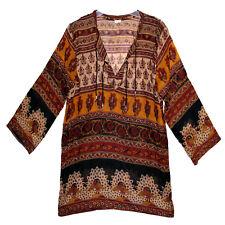 Indian Cotton Blouse Top Boho Women Ehs Retro Ethnic Hippie Blusa Gypsy Tunic