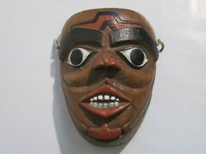 Vintage Mask Decorative Wall IN Terracotta Painted Period Xx Century