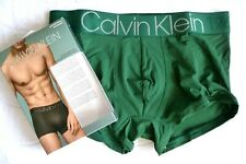 "SMALL 28-30"" CALVIN KLEIN Evolution Low Rise Classic TRUNK Green MICROFIBER"